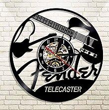 XZXMINGY Vinyl Clock Christmas Telecaster Vinyl