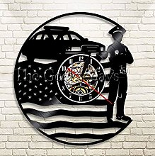 XZXMINGY Vinyl Clock Christmas USA Policeman