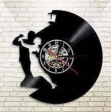 XZXMINGY Vinyl Clock Christmas Waltz Couple