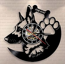 XZXMINGY Vinyl Clock German Shepherd Dog Wall