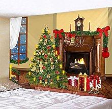 XZZZBXL Christmas Party Wall Tapestry Art Deco