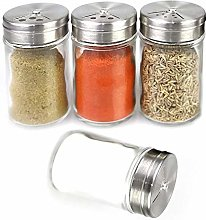 Y-H 4pcs Mini Spice Shaker Clear Seasoning Cans