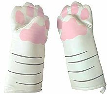 Y-H Cat Claw Cotton Oven Gloves Baking Insulation