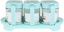 Y-H Glass Spice Container Seasoning Box Set Spice