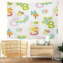 Y·JIANG ABC Tapestry, Kids Alphabet Cute Animal
