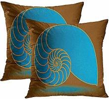 Y·JIANG Abstract Cushion Cover, Nautilus Shell