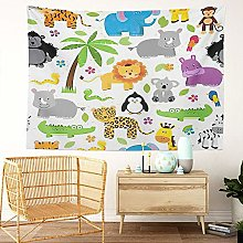 Y·JIANG Animal Tapestry, Tileable Jungle or Zoo