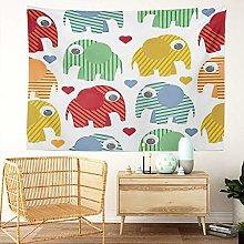 Y·JIANG Cartoon Tapestry, Cute Elephant Adorable