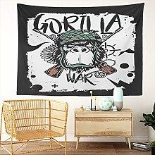 Y·JIANG Chimpanzee Tapestry, Gorilla Face Street