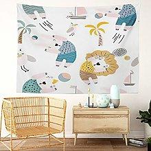 Y·JIANG Cute Tapestry, Cartoon Colorful Happy