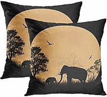 Y·JIANG Kenya Animal Cushion Cover, African
