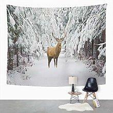 Y·JIANG Landscape Tapestry, Beautiful Red Deer