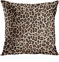 Y·JIANG Leopard Throw Pillow Cushion Cover,