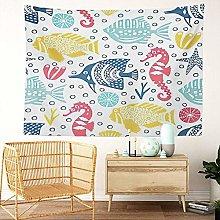 Y·JIANG Marine Life Tapestry, Coral Sea Seahorse