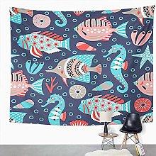 Y·JIANG Marine Life Tapestry, Fish Funny Ocean