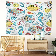 Y·JIANG Marine Life Tapestry, Fish Tropical Cute