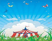 Y·JIANG Paint by Numbers Circus Tent Clouds Green