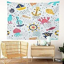 Y·JIANG Seaworld Tapestry, Marine Memphis Funny