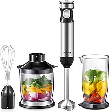 Yabano 1000 W Hand Blender 4 in 1, Purée Stick