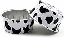 YAeele 100Pcs Disposable Aluminum Foil Baking Cup
