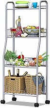 YAeele 4-Tier Basket Microwave Stand Kitchen
