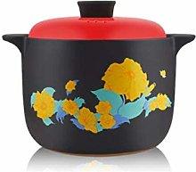 YAeele Casserole, Ceramic Soup Pot, 3.5L, Deepen