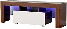 Yaermei Living Room LED TV Stand with Drawer &