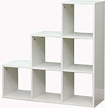 Yaermei Wooden Bookcase Shelving 4/6/9 Open Cubes