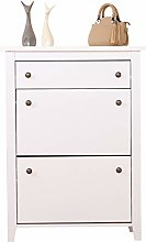 Yaermei Wooden Shoe Cabinet with 2 Doo r& 1 Drawer