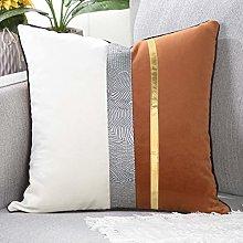 YAERTUN Patchwork Velvet Square Decorative Cushion