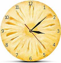 yage Wall Clock 3D Pineapple Fruit Slice Bromeliad