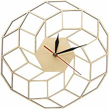 yage Wall Clock 3D Wooden Wall Clock Home Kitchen