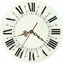 yage Wall Clock Art Retro Rustic Round Wall Clock