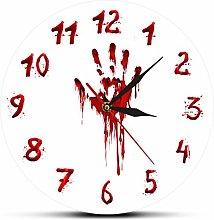 yage Wall Clock Design Bloody Hand Horror