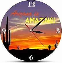 yage Wall Clock Design Cactus Modern Wall Clock