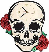 yage Wall Clock Design Decorative Fantasy Skull