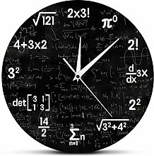 yage Wall Clock Design Math Equations And