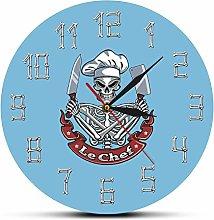 yage Wall Clock Design Skull Cook Modern Wall