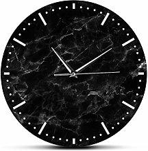 yage Wall Clock Home Decor Minimalist Black Marble