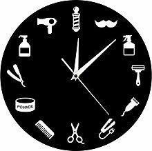 yage Wall Clock Kitchen Barber Shop Wall Clock