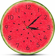 yage Wall Clock Modern Summertime Watermelon