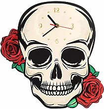 yage Wall Clock Vintage Decorative Fantasy Skull