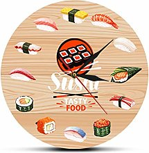 yage Wall Clock Vintage Sushi Tasty Food Wall