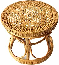 yahede Storage Stool Rattan Woven Rattan Stool Made Of Original Rattan Footstool With Storage Indoor Plant Stand And Flower Pot Stand Decoration Ornaments unusual