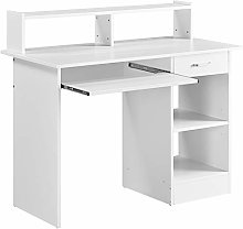 Yaheetech 106x50x94cm Computer Desk with Storage