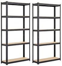 Yaheetech - 2PCS Heavy Duty 5 Tier Garage Shelving
