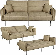 Yaheetech 3 Seater Sofa Bed with Fabric Cover