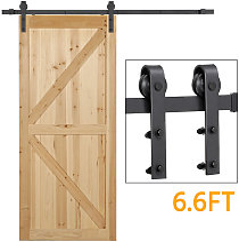 Yaheetech - 6.6FT Retro Sliding Steel Barn Wood