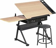 Yaheetech Art Desk/Table with Adjustable Height