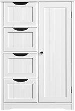 Yaheetech - Bathroom Floor Cabinet 4 Drawers &